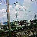 京都行の電車の中から