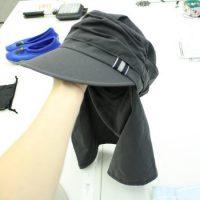 UVカット・テフロン撥水素材のくしゅくしゅワークキャップ