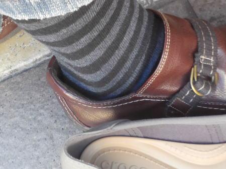 いつもの靴を履いたところ