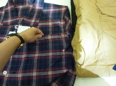 綿100%パジャマ ポケット部分
