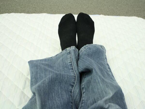 敷パッドに寝てみた
