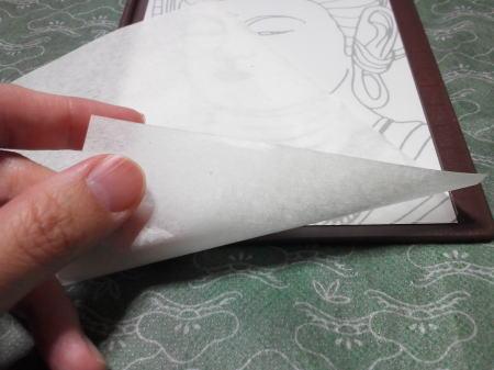 半紙を置いてみた