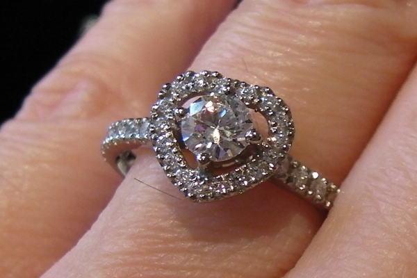 Floating Halo Diamond Ring