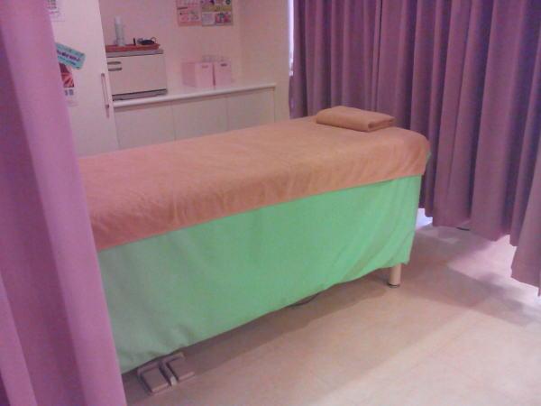 エステサロンのベッド