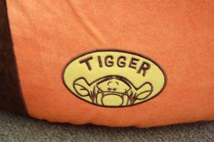 ティガーの刺繍
