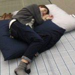 あ~、疲れたな… ゴロンッとするときにそばにあると幸せ モフモフのビッグクッション