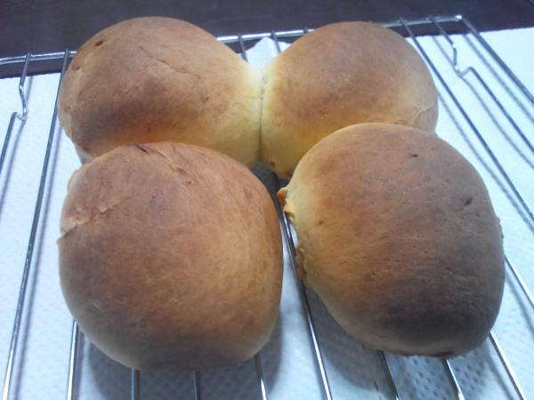 完成したパン