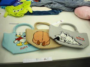 ディズニーのサガラ刺繍トートバッグ