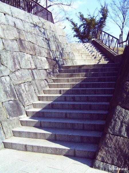 有岡城の階段