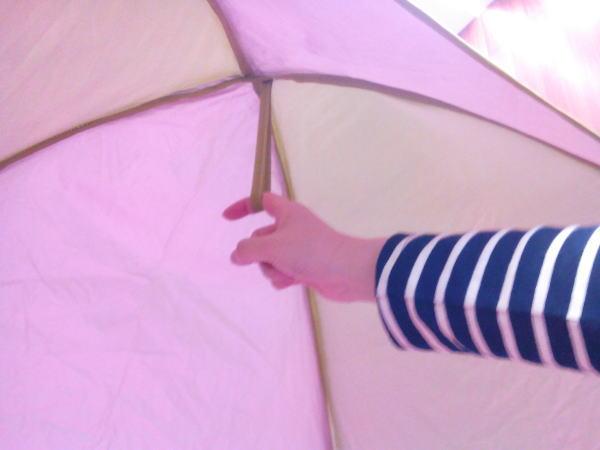 テント内のヒモ
