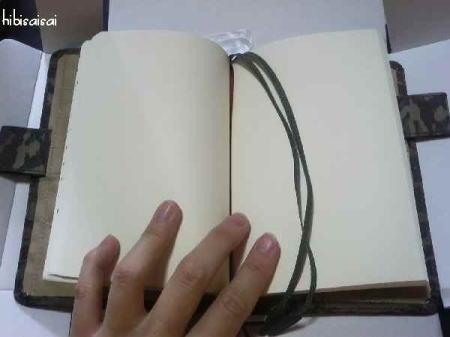 ほぼ日手帳カバーを文庫本ノートにセット