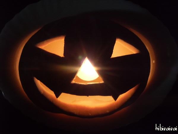 暗闇の中のジャック・オ・ランタン