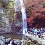 箕面大滝を動画で撮る