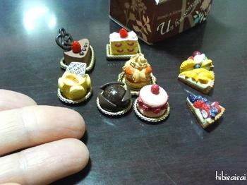 ミニチュアのケーキ