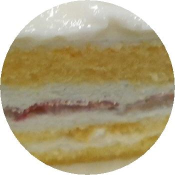 大阪ヨーグルトケーキ 断面のアップ