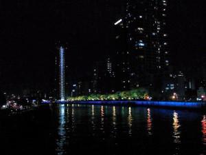 福島浜緑道・夜