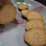 天ぷら食べつつ、安納蜜芋考