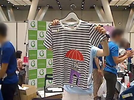 ムーミンキャラのTシャツ
