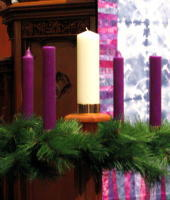 クリスマスの紫