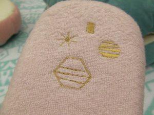 プリンセスモチーフの刺繍