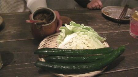 お通しの野菜