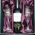 生まれ年ワイン&名入れグラスのセット