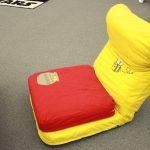 14段階リクライニングで自由にくつろぎスタイルが選べる、くまのプーさん座椅子