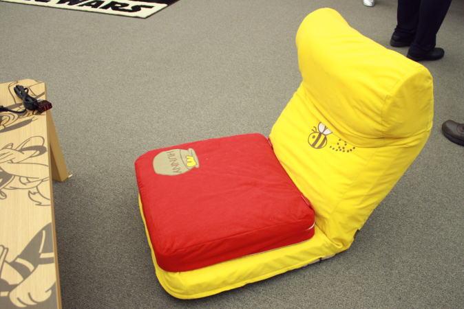 プーさんの座椅子