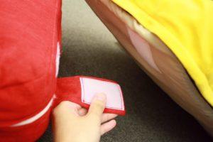 座椅子裏面のマジックテープ