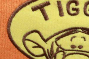 ティガーの刺繍 アップ