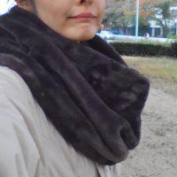 キルティングジャケット+ネックウォーマー