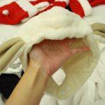 ベビーがキュートな子羊になっちゃう、垂れ耳羊のアニマルジャンプスーツ