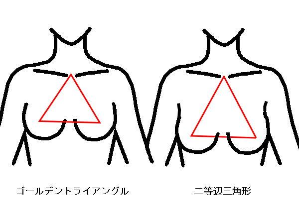 胸の位置 比較