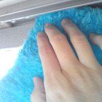 パルテックスで、窓の結露を拭き取ってみる