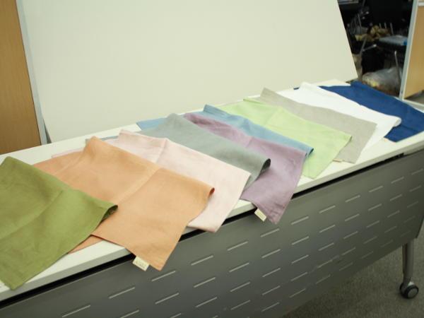フレンチリネンの枕カバー